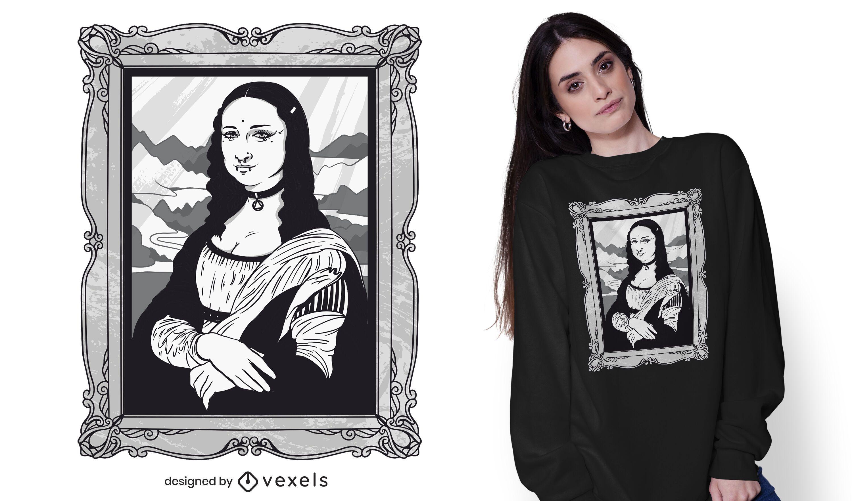 Gothic mona lisa t-shirt design