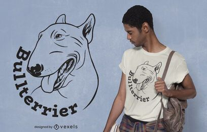 Bullterrier-Hund-T-Shirt Design