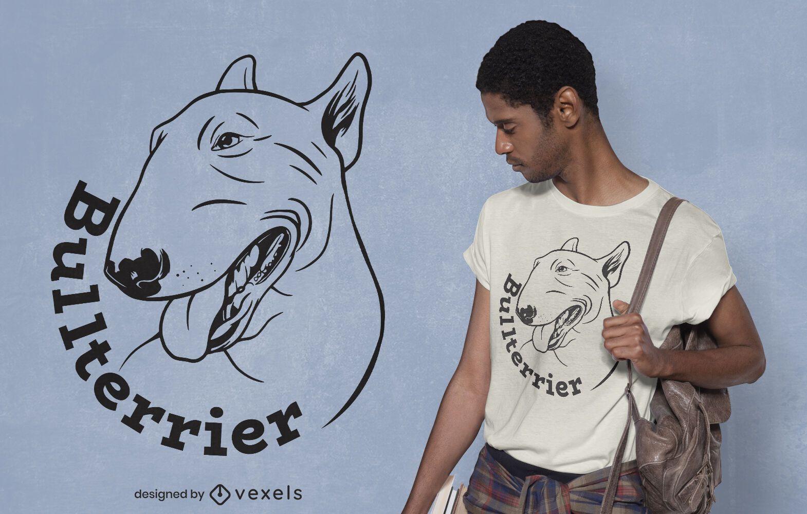 Bull terrier dog t-shirt design