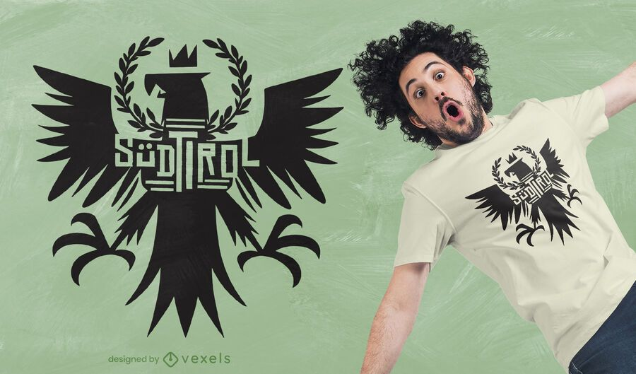 Diseño de camiseta de águila tirolesa