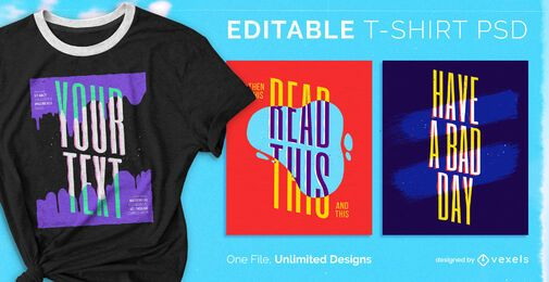 Skalierbares PSD-T-Shirt mit Farbeffekt