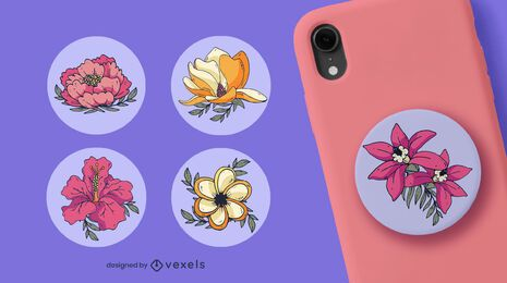 Flower popsocket set design