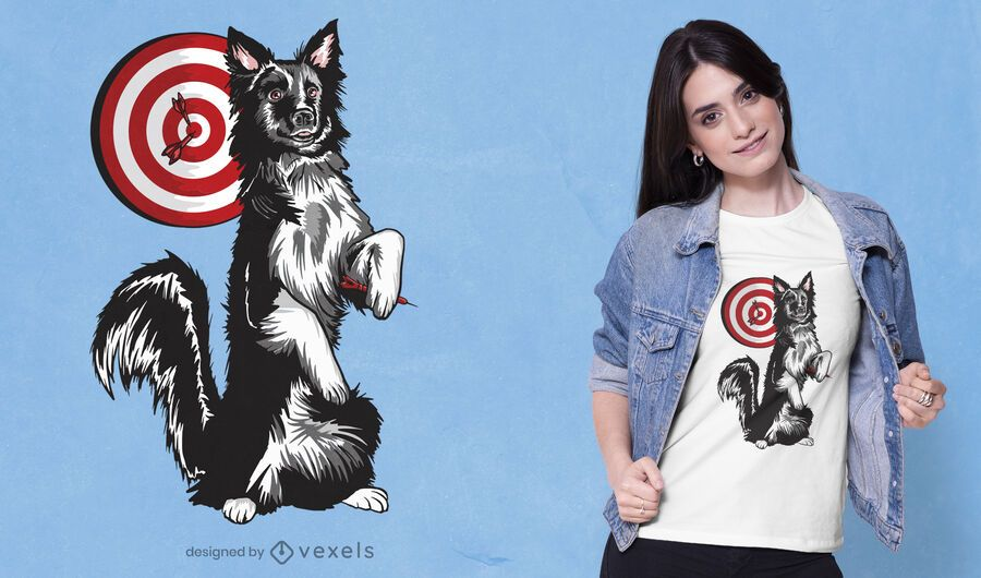 Darts dog t-shirt design