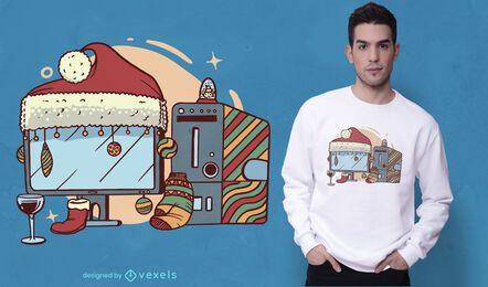 Weihnachtscomputer-T-Shirt Design