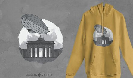 Design de camiseta dirigível de Brandemburgo
