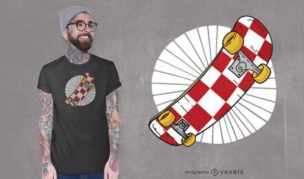 Kroatisches Skateboard-T-Shirt Design