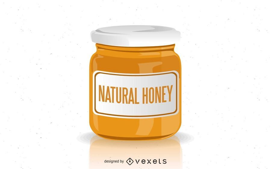 Design natural do frasco do mel