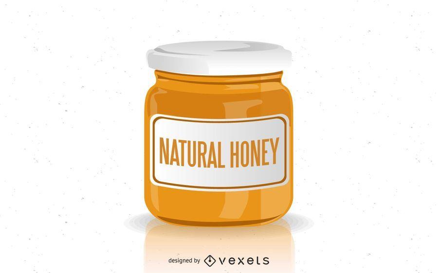 Natural Honey Jar Design