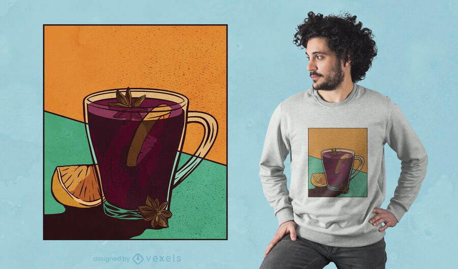 Mulled wine t-shirt design