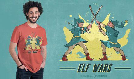 Diseño de camiseta de Elf Wars