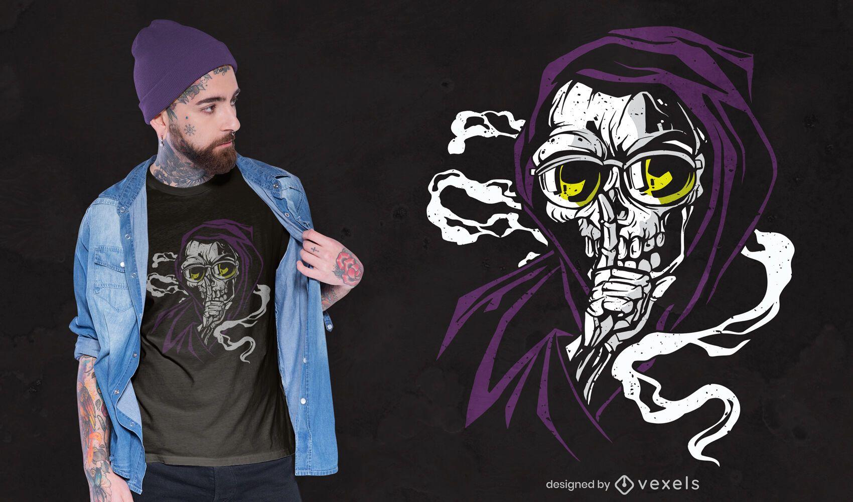 Design de camiseta silenciosa para a morte
