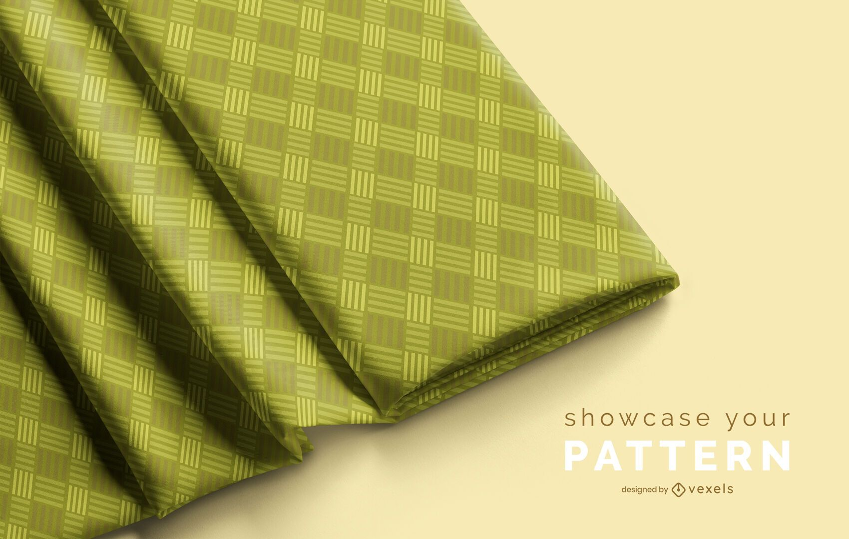 Folded fabric mockup design