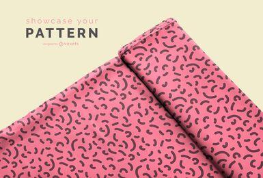 Design de maquete de rolo de tecido dobrado