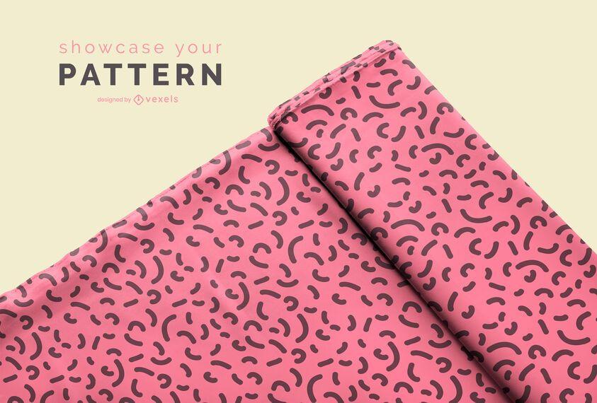 Diseño de maqueta de rollo de tela doblada