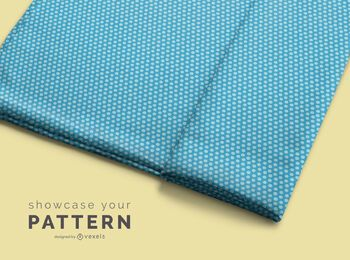 Fabric roll pattern mockup design