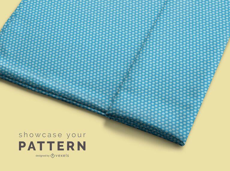 Projeto de maquete de padrão de rolo de tecido