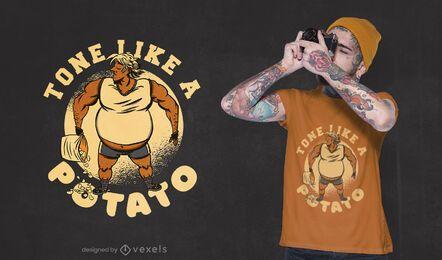 Como o design de uma camiseta de batata