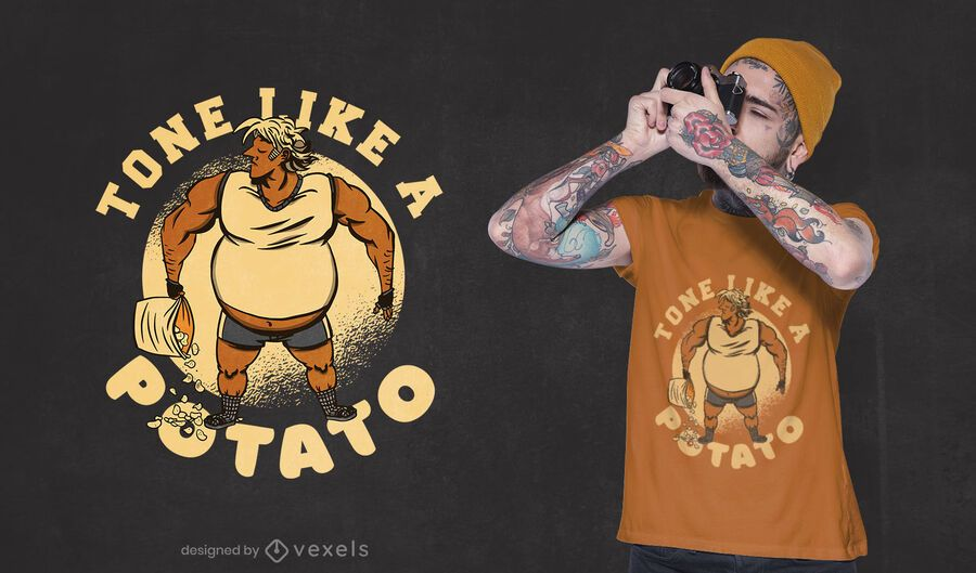 Like a potato t-shirt design