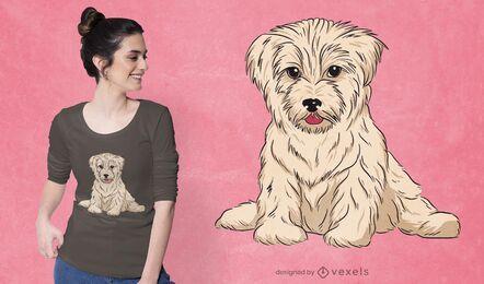 Diseño de camiseta de perro Bichón Habanero