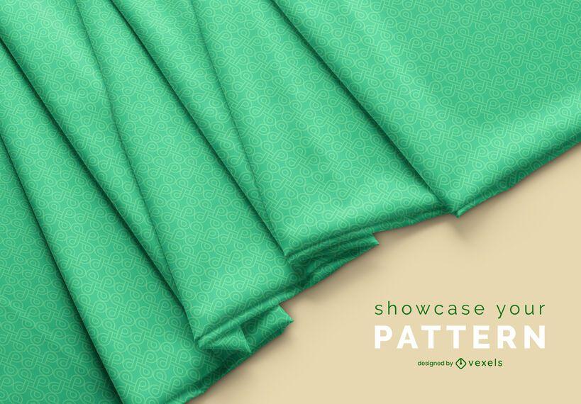 Fabric pattern mockup design