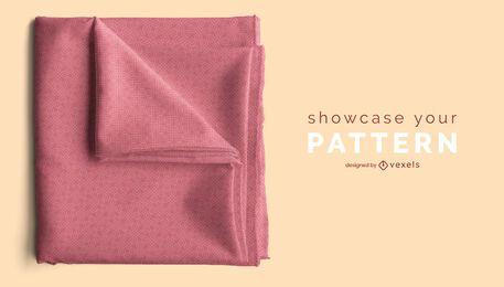 Design de maquete psd com padrão de tecido