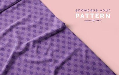 Projeto de maquete de tecido padrão psd