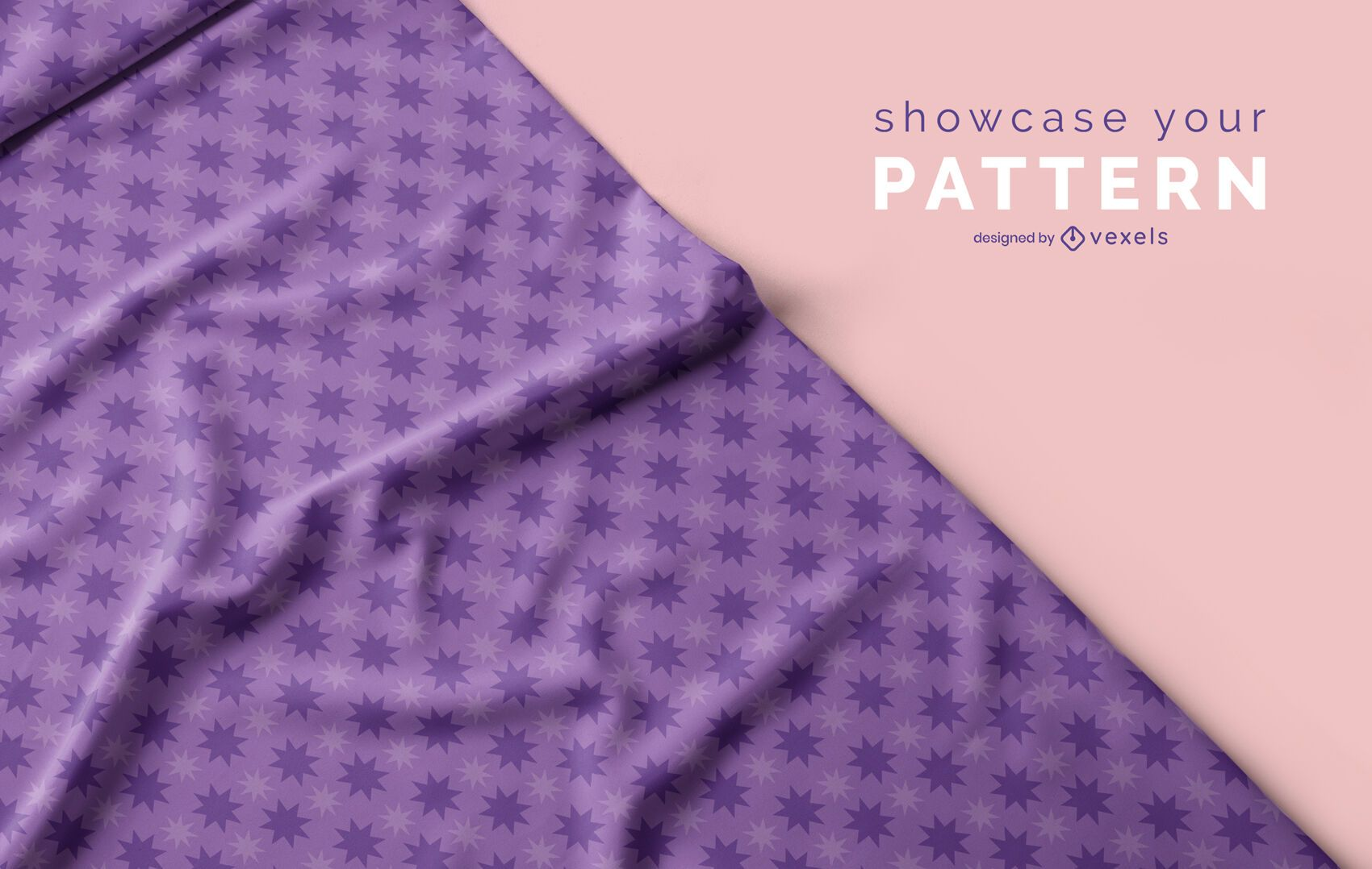 Diseño de maqueta de patrón de tela psd