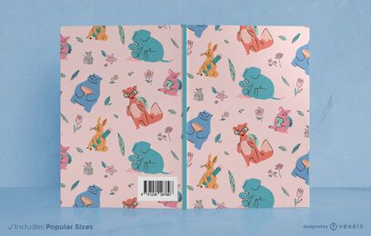 School animals book cover design