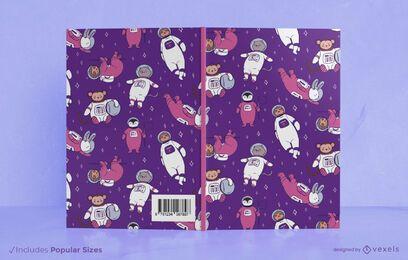 Design da capa do livro dos animais do espaço