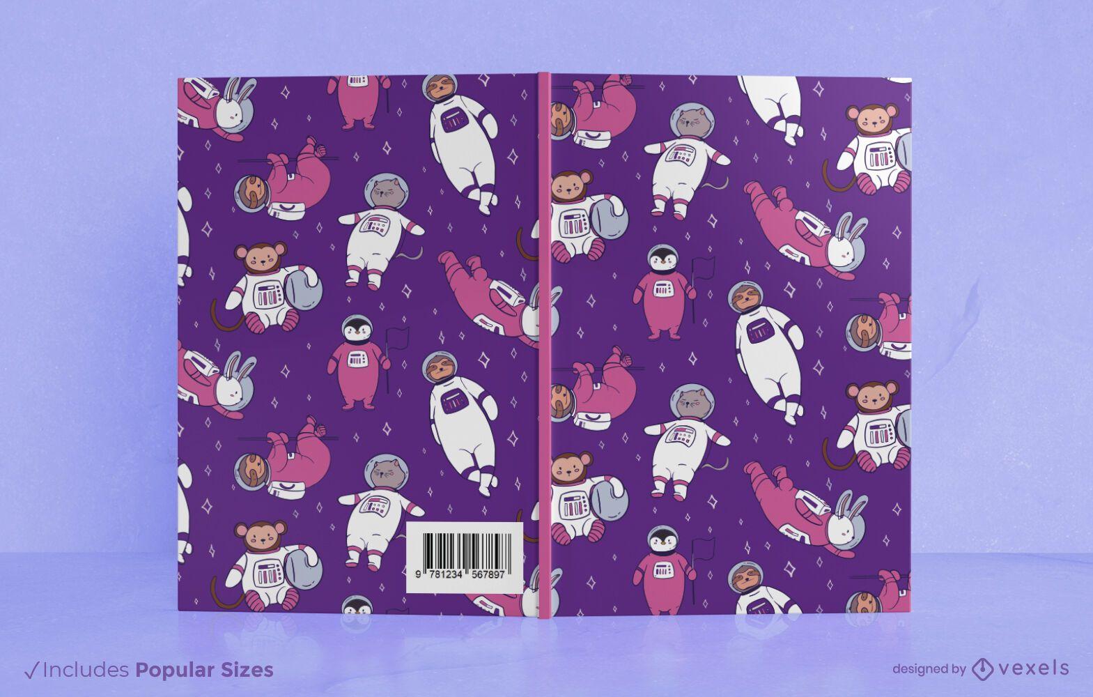 Space animals book cover design