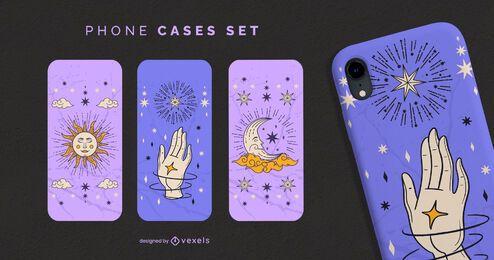 Conjunto de capas de telefone de astrologia