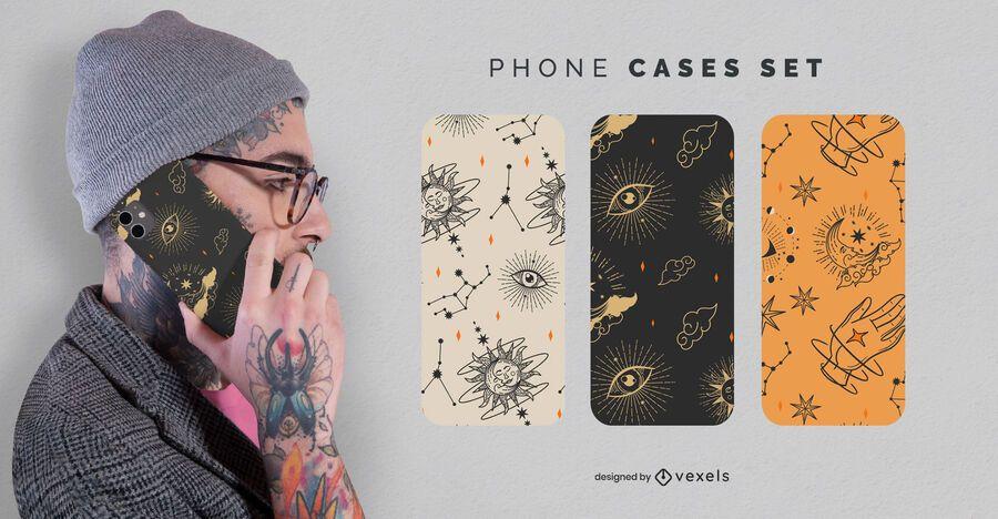 Conjunto de capas místicas para telefone