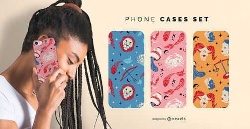 Zodiac signs phone cases set