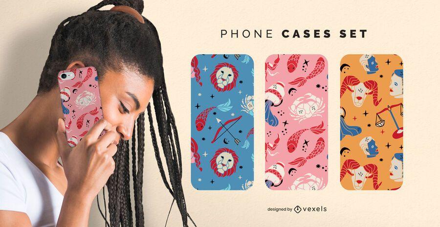 Zodiac signs phone cases set