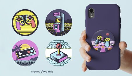 Retro gaming popsocket set
