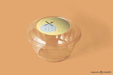 Diseño de maqueta de empaque transparente
