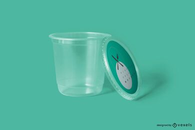 Plastic packaging mockup design