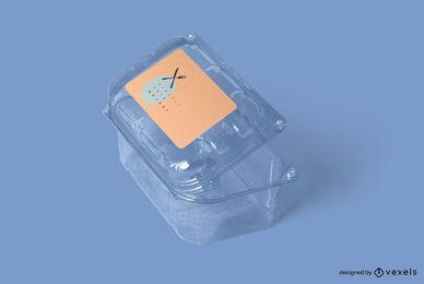 Projeto de maquete de recipiente de plástico