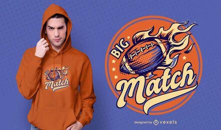 Diseño de camiseta de gran partido