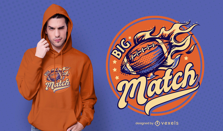 Big match t-shirt design