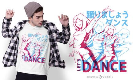 Anime dance t-shirt design
