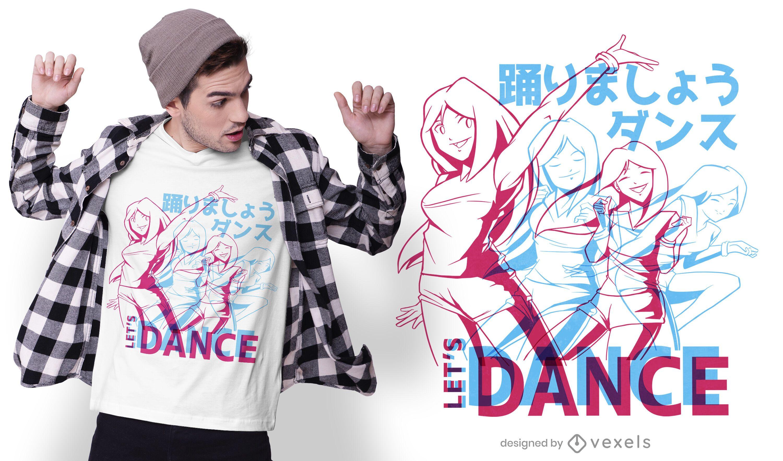 Anime Tanz T-Shirt Design