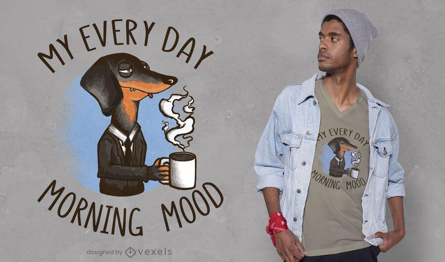 Diseño de camiseta de perro café