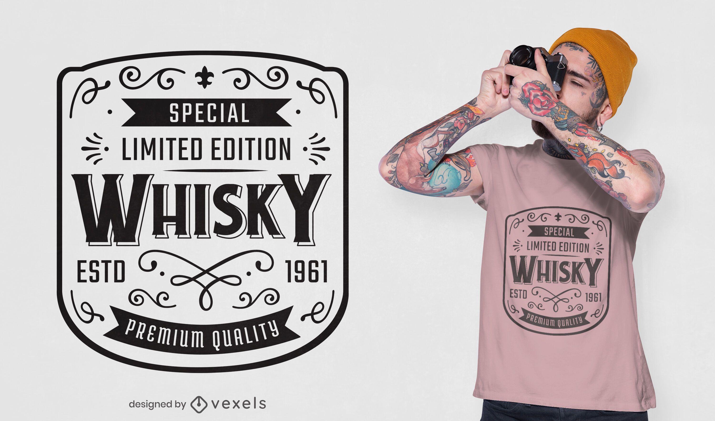 Whisky label t-shirt design