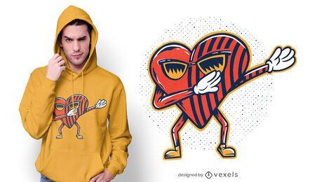 Herz tupft T-Shirt Design