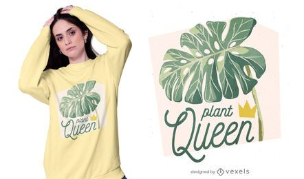 Plant queen t-shirt design