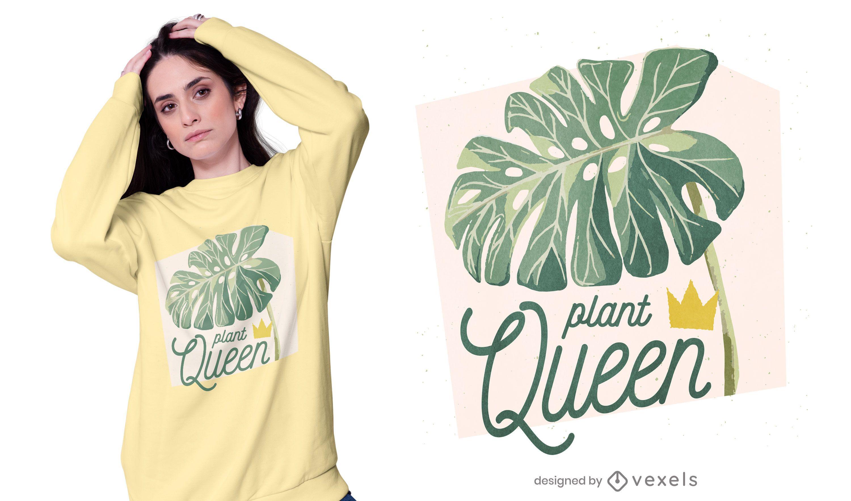 Design de camiseta da rainha da planta
