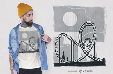 Roller coaster t-shirt design