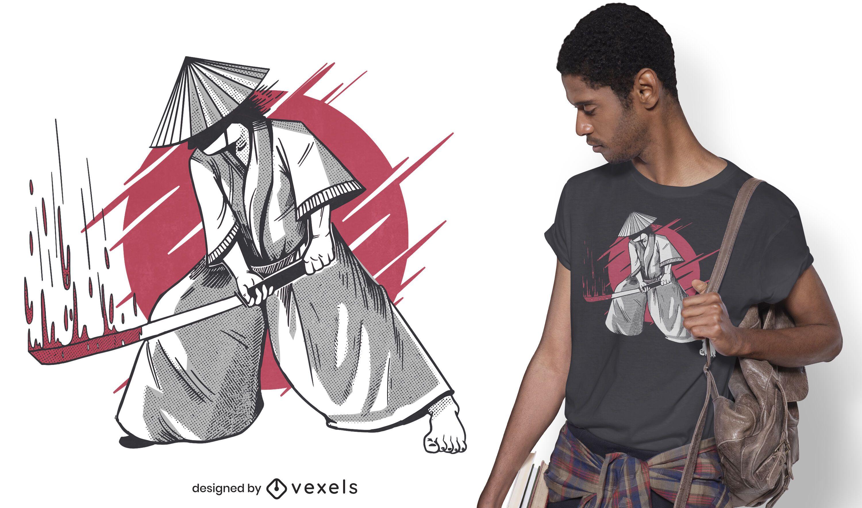 Samurai katana t-shirt design