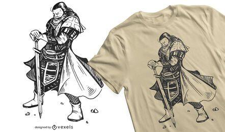 Ritter Templer T-Shirt Design